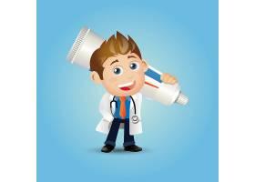 牙医和牙膏主题牙医口腔爱牙护牙人物矢量插画设计