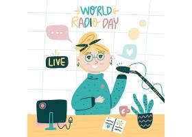 人物直播带货互联网社交媒体人物插画设计