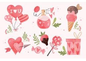 手绘情人节装饰插画