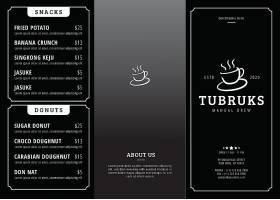咖啡西餐北欧风简约大气菜单菜牌封面设计