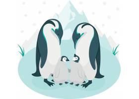 企鹅动物插画设计