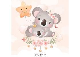可爱清新的考拉动物插画设计