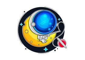 星球宇航员主题插画设计