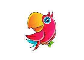 鹦鹉主题插画设计