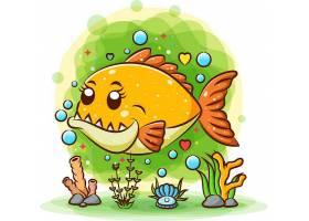 海底鱼类主题插画设计