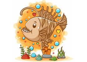海底�c�K鱼主题插画设计