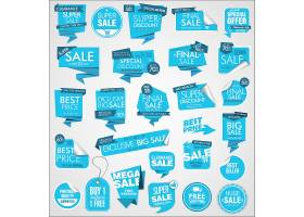 蓝色创意创意电商通用促销打折标签标贴设计