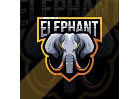 大象主题矢量LOGO图标徽章设计