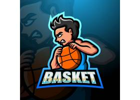 篮球运动员主题矢量LOGO图标徽章设计