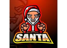 圣诞老人主题矢量LOGO图标徽章设计