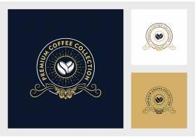 咖啡豆可可豆主题矢量LOGO图标徽章设计