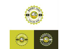 圆形清新欧式甜品蛋糕主题矢量LOGO图标徽章设计