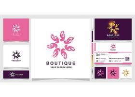 粉色商务通用主题矢量LOGO图标徽章设计