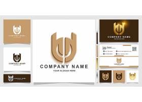 咖啡色商务通用主题矢量LOGO图标徽章设计