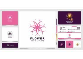 商务通用花瓣形主题矢量LOGO图标徽章设计