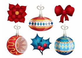 圣诞节装饰球矢量插画设计