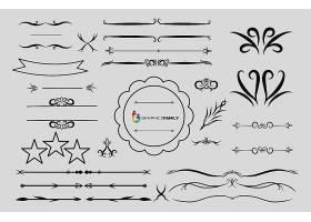花纹花边设计矢量素材
