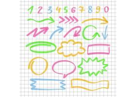 马克笔涂鸦笔涂鸦符号装饰图案矢量素材