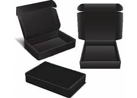 黑色礼盒矢量素材