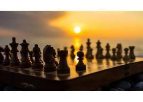 比赛,象棋,日落,深度,关于,领域,壁纸,