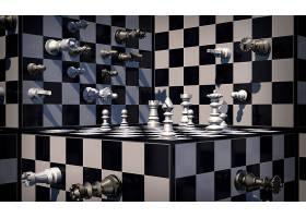比赛,象棋,黑色,白色,艺术的,3D,壁纸,