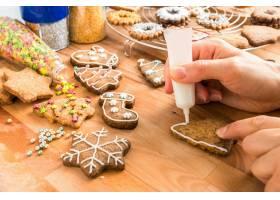 圣诞饼干制作图片素材