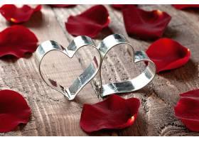 红色玫瑰花花瓣
