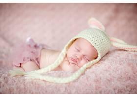 安静睡着的婴儿宝宝