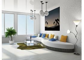北欧风简洁客厅沙发