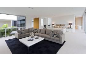 时尚简洁客厅与沙发