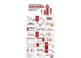 红色简约财务分析年终总结汇报ppt模板