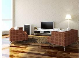 客厅沙发与电视