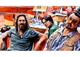 电影,大的,Lebowski,杰夫,桥梁,绘画,壁纸,