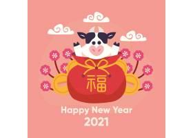 可爱的传统动物韩国新年