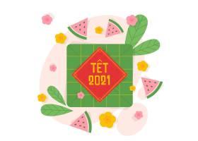 平面设计中的Tt越南新年