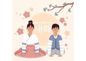 平面设计人物韩国新年