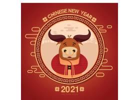 2021年中国新年牛年海报