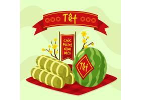 创意手绘越南新年