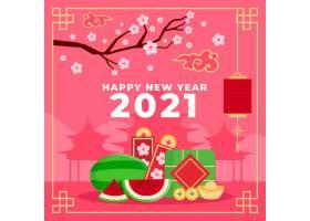 2021年杏花和西瓜插图