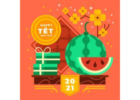 越南2021年新年和杏花