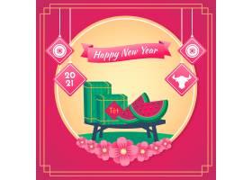 越南2021年新年粉色背景