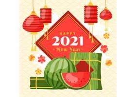 越南新年手绘矢量元素