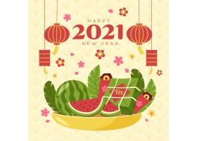 越南新年手绘西瓜素材