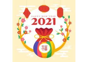 韩国新年手绘硬币包矢量素材