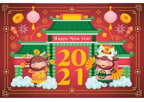 中国新年2021年海报