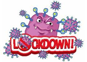 白色背景文字锁定的冠状病毒海报设计_76867680101