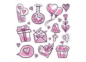 粉色创意元素集合