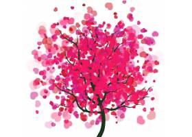 爱心红色树木背景