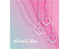 美丽的情人节用悬挂的心问候_368289101