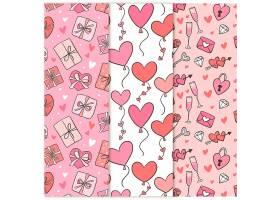 爱心礼盒红色粉色背景